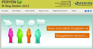 PERYÖN İK Blog Ödülleri 2013